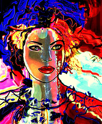 Mixed Media - Natalie Holland Portrait by Natalie Holland