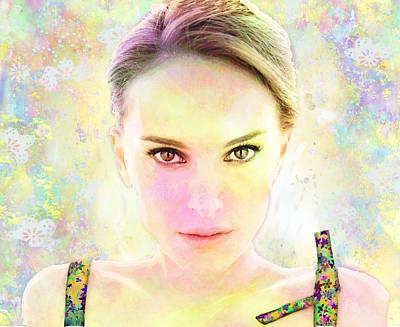 Natalie Portman Art Print by Elena Kosvincheva