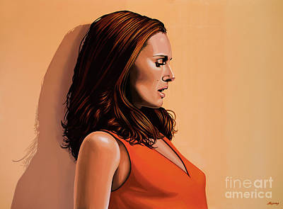 Natalie Portman 2 Art Print by Paul Meijering