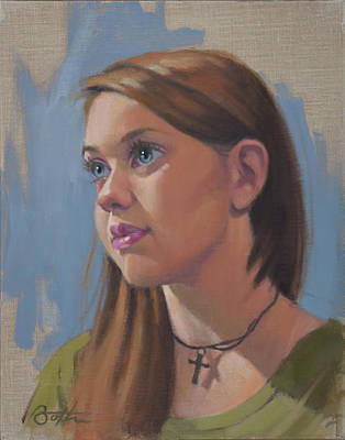 Painting - Natalie by Todd Baxter
