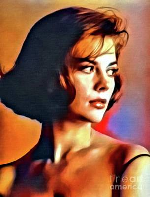 Jazz Digital Art - Natalie Wood, Vintage Actress. Digital Art By Mb by Mary Bassett