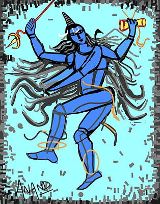 Digital Art - Nataraja by Anand Swaroop Manchiraju
