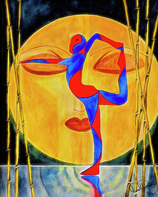 Painting - Nataraja Asana by Dee Browning