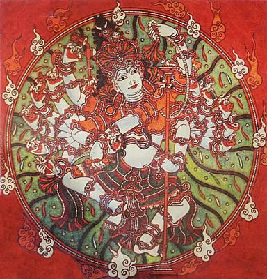 Nataraja Mural Original by Arun Sivaprasad