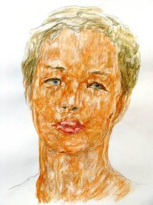 Natasha Drawing - Natasha Bakaeva, Portrait by Sviatoslav Alexakhin
