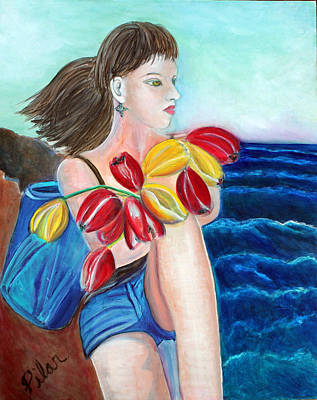 Painting - Natasha By The Sea by Pilar  Martinez-Byrne