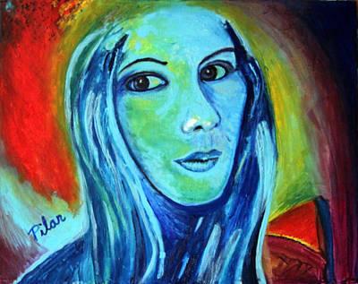Painting - Natasha In Blue by Pilar  Martinez-Byrne