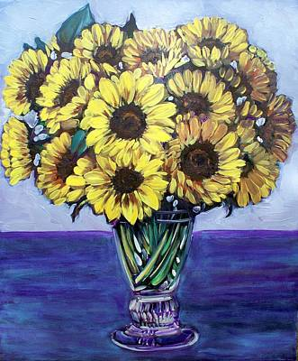 Painting - Natasha's Sunflowers by Sheila Tajima