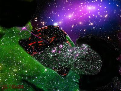 Beautiful Digital Art - Natassja In Nebular Sleep by John Paul Blanchette