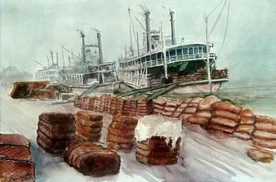 Natchez Cotton Docks  Art Print