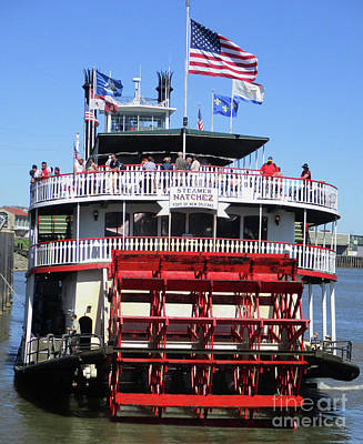 Photograph - Natchez Paddlewheeler 3 by Randall Weidner