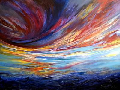 Painting - Natchez Sky by Jan VonBokel