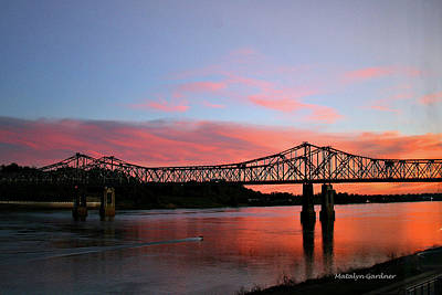 Photograph - Natchez Sunset by Matalyn Gardner