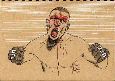 Painting - Nate Diaz by Frank Middleton