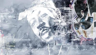 Evansville Drawing - Nate Graffitti 3 by Jani Heinonen