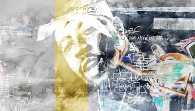 Evansville Drawing - Nate Graffitti 4 by Jani Heinonen