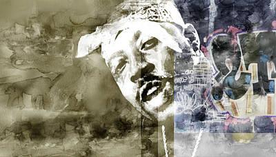Evansville Drawing - Nate Graffitti 5 by Jani Heinonen