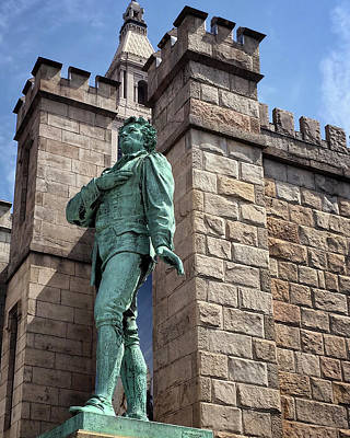 Photograph - Nathan Hale Heroic Statue In Hartford Connecticut by Phil Cardamone