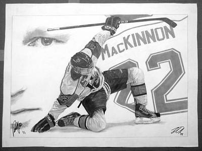 Rookie Of The Year Drawing - Nathan Mackinnon by Robb Scott