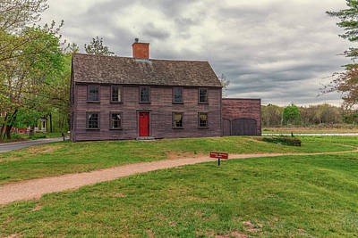 Concord Massachusetts Photograph - Nathan Meriam House by Brian MacLean