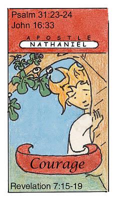 Revelation Drawing - Nathaniel - Courage by Chayla Dion Amundsen-Noland