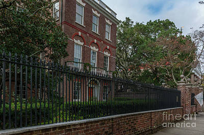 Photograph - Nathaniel Russell House Brick Mansion by Dale Powell