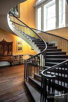 Photograph - Nathaniel Russell House Free Floating Staircase by Dale Powell