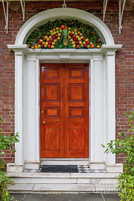 Photograph - Nathaniel Russell House Pineapple Entrance by Dale Powell