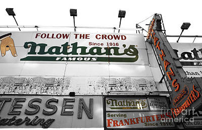 Hot Dogs Photograph - Nathan's Famous Fusion by John Rizzuto
