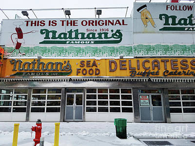 Photograph - Nathan's Famous by Mary Capriole