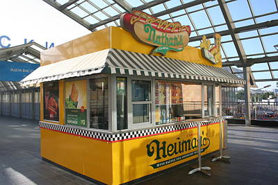 Thomas Kinkade - Nathans Hot Dogs in Moscow by James Hanemaayer