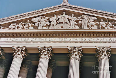 Photograph - National Archives Building by D Hackett
