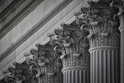 Photograph - National Archives Columns #2 by Stuart Litoff