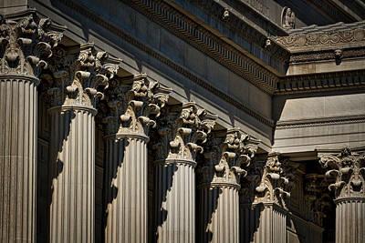 Photograph - National Archives Columns by Stuart Litoff
