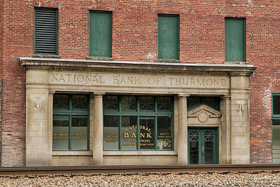 Thurmond Wall Art - Photograph - National Bank Of Thurmond by Jurgen Lorenzen
