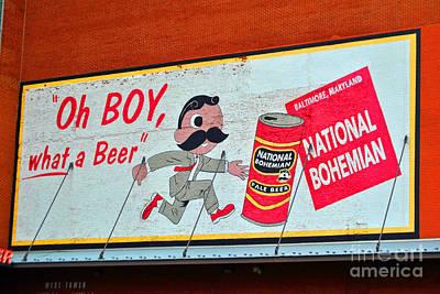 National Bohemian Beer Photograph - National Bohemian by Jost Houk