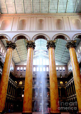 National Building Museum Photograph - National Building Museum 4 by Randall Weidner
