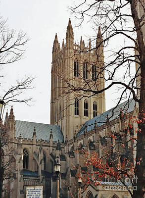 Photograph - National Cathedral by D Hackett