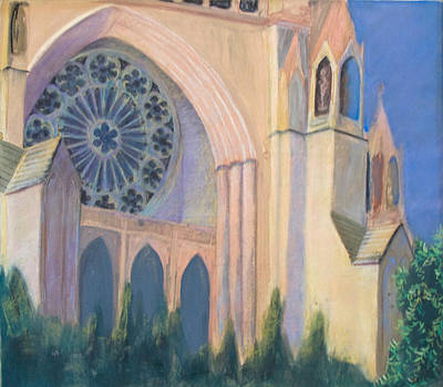 Pastel - National Cathedral by Don Perino