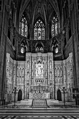 Photograph - National Cathedral High Altar #2 by Stuart Litoff