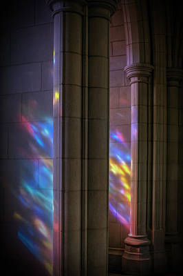 Photograph - National Cathedral Rainbow by Patrick Groleau