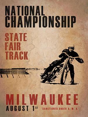 Motor Sports Photograph - National Championship Milwaukee by Mark Rogan
