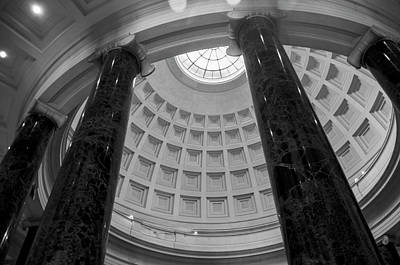 Government Photograph - National Gallery Of Art Rotunda In Black And White by Greg Mimbs