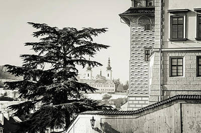 Photograph - National Gallery Salm Palace. Prague. Monochrome by Jenny Rainbow