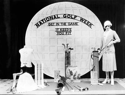 National Golf Week Display Art Print by Underwood Archives