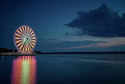Photograph - National Harbor Ferris Wheel by Ryan Wyckoff