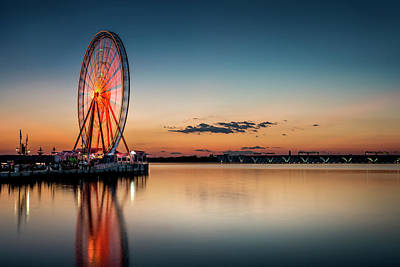 Photograph - National Harbor Sunset by Ryan Wyckoff