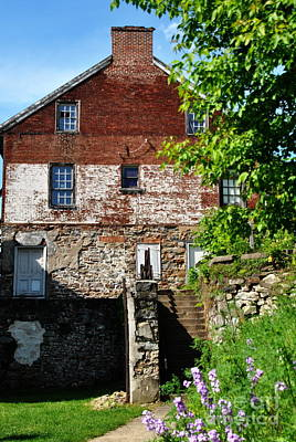 Photograph - Flour Mill In Spring Colonial Industrial Quarter by Jacqueline M Lewis