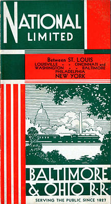 Drawing - National Limited by Baltimore and Ohio Railroad