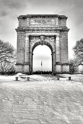 Photograph - National Memorial Arch In Winter by Olivier Le Queinec